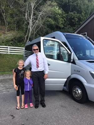 Bob the driver with grand-children